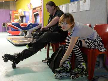 An Easter themed skate night at Extreme Skate Zone.