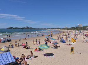 Mooloolaba Beach on Easter Monday. Photo: John McCutcheon / Sunshine Coast Daily