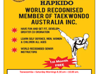 Taekwondo Classes are now being held in Toowoomba , Your first month is free and open to all ages from 5yrs and older