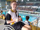 Just 10 months after a spinal cord injury Campbell was back in the pool, competing in Queensland Secondary School State Championships in all five strokes.