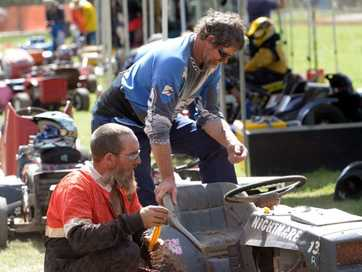 A selection of photos taken at the Bundy Turfburners Ride-on Mower Racing held at the Bullyard Recreational Grounds on Sunday, 12 April 2015.