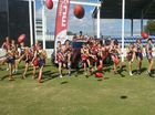 sBOYS and girls aged 12 and under are invited to take part in AFL Queensland's Jaegar's Juniors Super Clinic at Harrup Park on Friday, April 24.