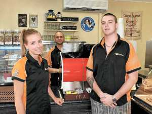 CENTURY: The Orange Quote is the 100th member to join the Airlie Beach Chamber of Commerce. Pictured are Nienke Lanting, Ivan Cortes and Aaron Paull.