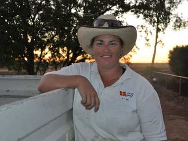 LOVE OF THE LAND: Oakley owner Kirsten Forrest will offload most of the stock on the 16,000 acre property near Longreach before dry winter conditions take hold in June. Photo Jayden Brown / Warwick Daily News