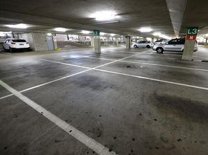 An image taken in the Ipswich City Mall carpark on Thursday morning. Photo: Rob Williams / The Queensland Times