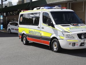 A man has been stabbed at Caboolture Train Station.