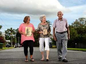 Trish Borg, Jackie McDonald and Chick Booka in Solomans Row. Photo: John Gass / Tweed Daily News