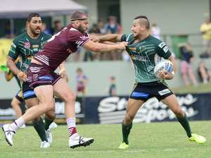 Ipswich Jets speedster Marmin Barba was everywhere for his team in today's loss to the Burleigh Bears.