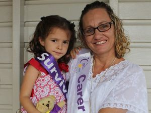 Madelyne Grange and her mother Janelle will lead the survivors and carers lap to open the 2015 Rockhampton Relay for Life. Photo contributed.