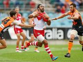 SYDNEY Swans star Adam Goodes is considering immediate retirement from the AFL as the booing controversy threatens to run him out of the game.