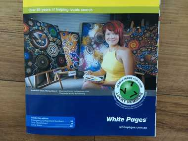The Yellow and White Pages phone book has a ticket into a lotto syndicate inside.