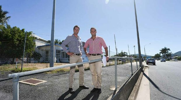 TRAVELLING AHEAD: Jack and Tom Ray, of the Ray Group, stand at the site where a new travel centre will be built in Rockhampton.