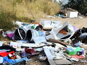 The dumping of rubbish on Piggabeen Rd. Photo: John Gass / Tweed Daily News