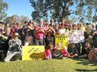 NO GO: Gasfield Free Northern Rivers supporters display their feelings at a meeting at Bentley Hall yesterday.