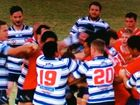 CAUGHT ON CAMERA: Players from Colts and Brothers A-grade teams throw punches as a big brawl unfolds after their game on Anzac Day.  PHOTO COURTESY: CHANNEL 7 ROCKHAMPTON