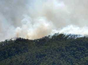Fires viewed from Mt Archer. Photo Allan Reinikka / The Morning Bulletin