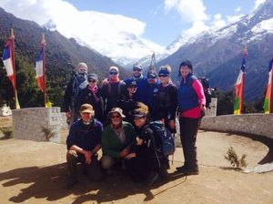 The trek group, comprising Coffs Coast locals, descended from base camp on Thursday due to altitude sickness. They abandoned their plans to mark the Anzac Day Centenary at Base Camp, as the 7.8 magnitude earthquake  struck Nepal.