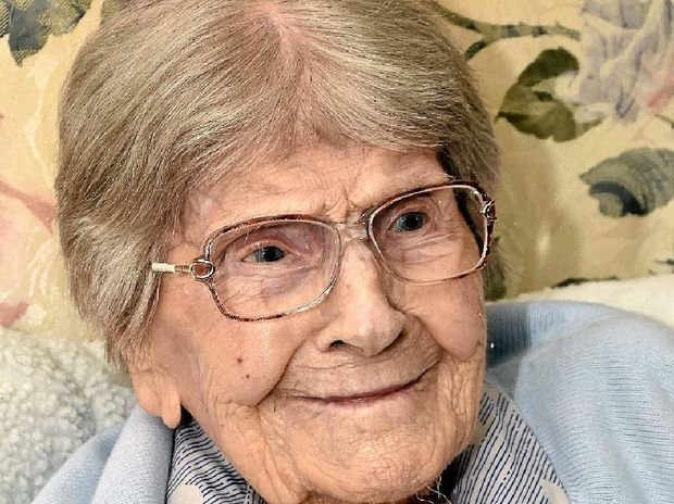 READY FOR CELEBRATIONS: Maren Hansen will celebrate her 107th birthday on Sunday.