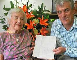 1943 marriage plea from late husband finds wife