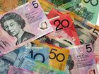 A large sum of money was discovered on a Mackay street last night