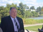 THE Lockyer MP has accused Mayor Steve Jones of going missing during the 2011 Grantham floods.