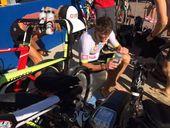 Alexandra Headland's Stephen Gage is leading the inaugural Ultraman Australia triathlon being staged in Noosa.