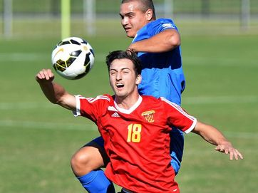 Sunshine Coast Fire versus South West soccer match on May 10, 2015