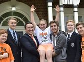 ST MARY'S College student Noah Shepherdson has rallied his school together to raise money for a campaign led by the family and friends of boxer Brayd Smith who died earlier this year.
