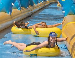 WATCH: Bid in to get 1000ft slip 'n' slide to Gladstone