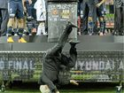 TESTS have cleared FFA boss Frank Lowy of any injury after his spectacular fall from the A-League grand final podium.