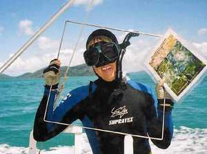 WATCHFUL EYE: Whitsundays Seagrass Watch member Jacquie Sheils gets ready to dive. Photo: Contributed