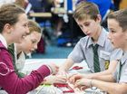 COMPETITION is under way in the 2015 Darling Downs Science and Engineering Challenge with St Mary's College Ipswich taking out day one of the four-day event.