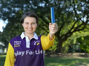 Rochelle Vaisanen is taking part in the Relay for Life again this year and is asking for others to get involved in the event. Photo: Rob Williams / The Queensland Times *Photo digitally altered / baton added to image*