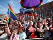 SCENES of emotion and jubilation across Dublin with same-sex marriage to be legalised after historic poll.