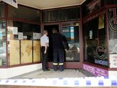 FOUR shops in Maclean CBD were gutted by fire late Saturday night.