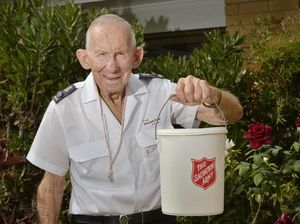 CHARITY CHAMPION: Ray Auld has been collecting for the Red Shield Appeal for more than five decades.