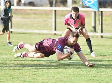 Some of the action from Hervey Bay Seagulls' 30-10 win over Isis Devils at Stafford Park on Sunday.