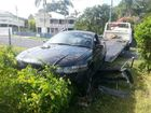 The ute had allegedly been fish-tailing up the street before losing control, mounting the gutter and crashing through a fence.