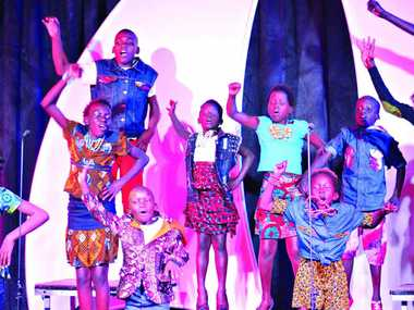 BRIGHT AND VIBRANT: A wonderful display by the Watoto Children's Choir.