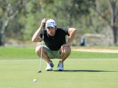 Dan Stevenson competing in The Pines Yeppoon Capricorn Coast Invitational Golf Touranment held at the Yeppoon Golf Club. Photo: Chris Ison / The Morning Bulletin