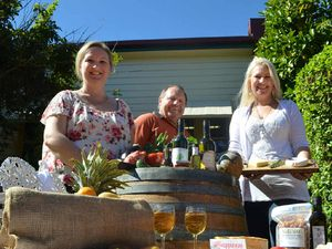 FOOD BOWL: Rosa Eschbach, Peter Eschbach and Kylie Hennig are among a group of locals who want to set up a food and growers market in the heart of Childers.