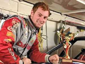 BACK TO FRONT: Nathan Barbeler was able to work his way from the back to finish second at the Gympie street stock feature.