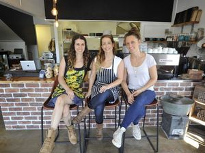 The Belle General co-owners (left to right) Sarah Baldin, Kayla Plummer and Jacqui McCoach, pictured on the cafe's opening day in 2015.
