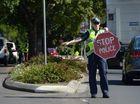 Emergency servies responding to peak hour traffic crash in Rockhampton CBD