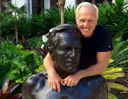 Greg Norman's giant bronze statue 60th birthday gift
