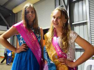 STARS: Kristy Russell and Hailey Page won Mitchell's Miss Show Girl and Miss Junior Show Girl on Monday night.