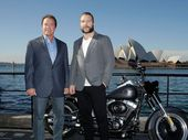 ARNOLD Schwarzenegger and his Aussie co-star introduced advanced footage of the film, which sees Arnie return to his iconic role for the first time in 12 years.
