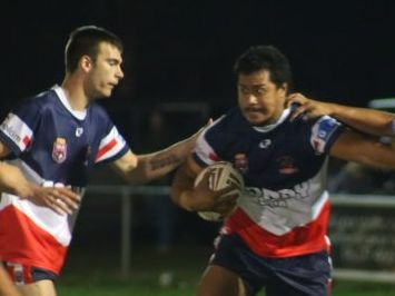 Joe Fuimaono on the attack in the Warwick Cowboys victory against Goondiwindi last weekend. Photo Deanna Millard / Daily News