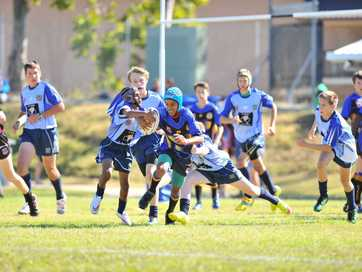 Action from the central Queensland junior representative carnival at Gladstone junior rugby league fields.