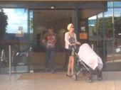 A CHANNEL Nine reporter has had a lit cigarette put out on her face outside Caboolture Magistrates Court.